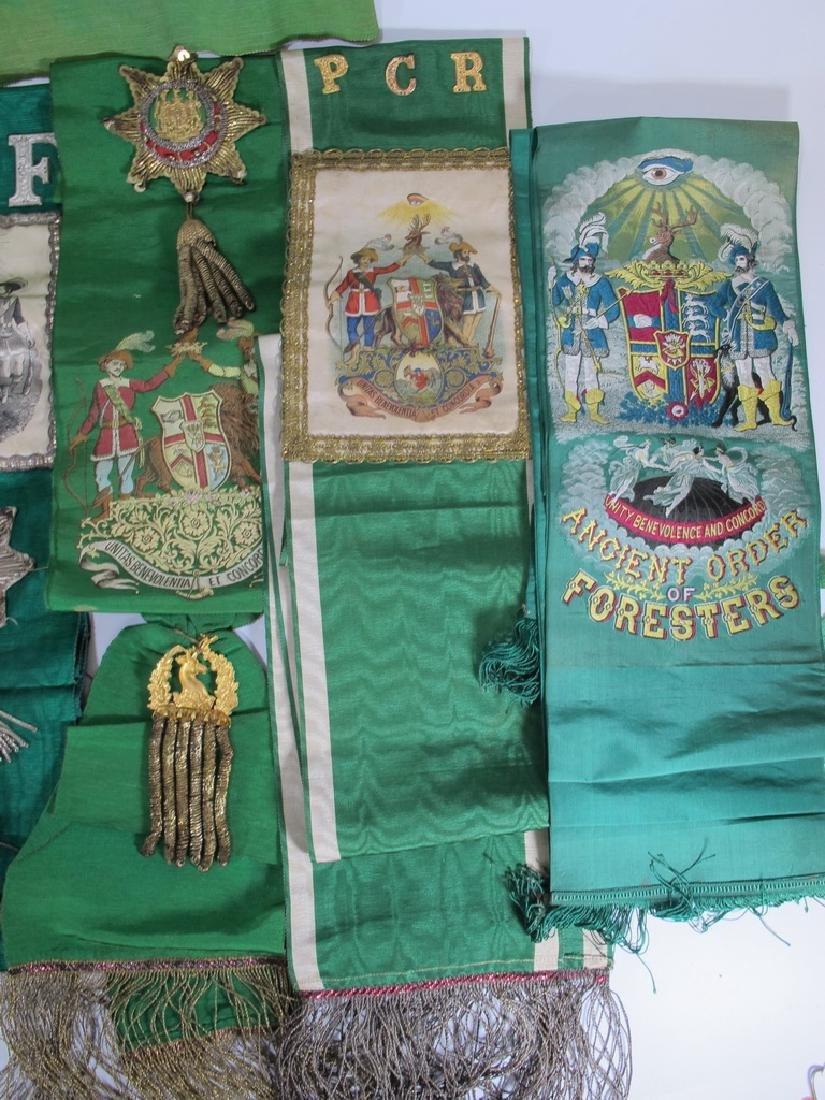 Lot of 9 assorted Masonic Orders sashes - 4
