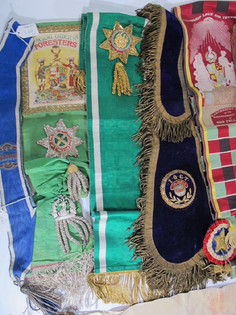 Lot of 10 assorted Masonic Orders sashes - 2