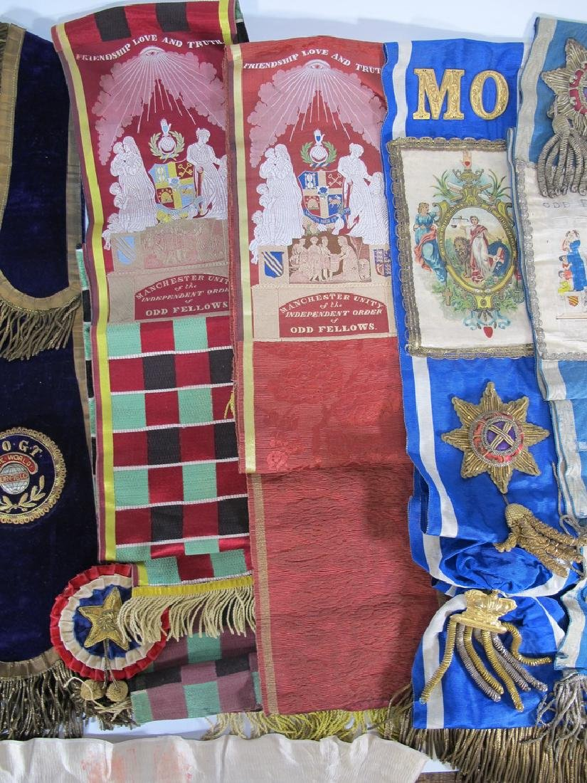 Lot of 10 assorted Masonic Orders sashes - 3