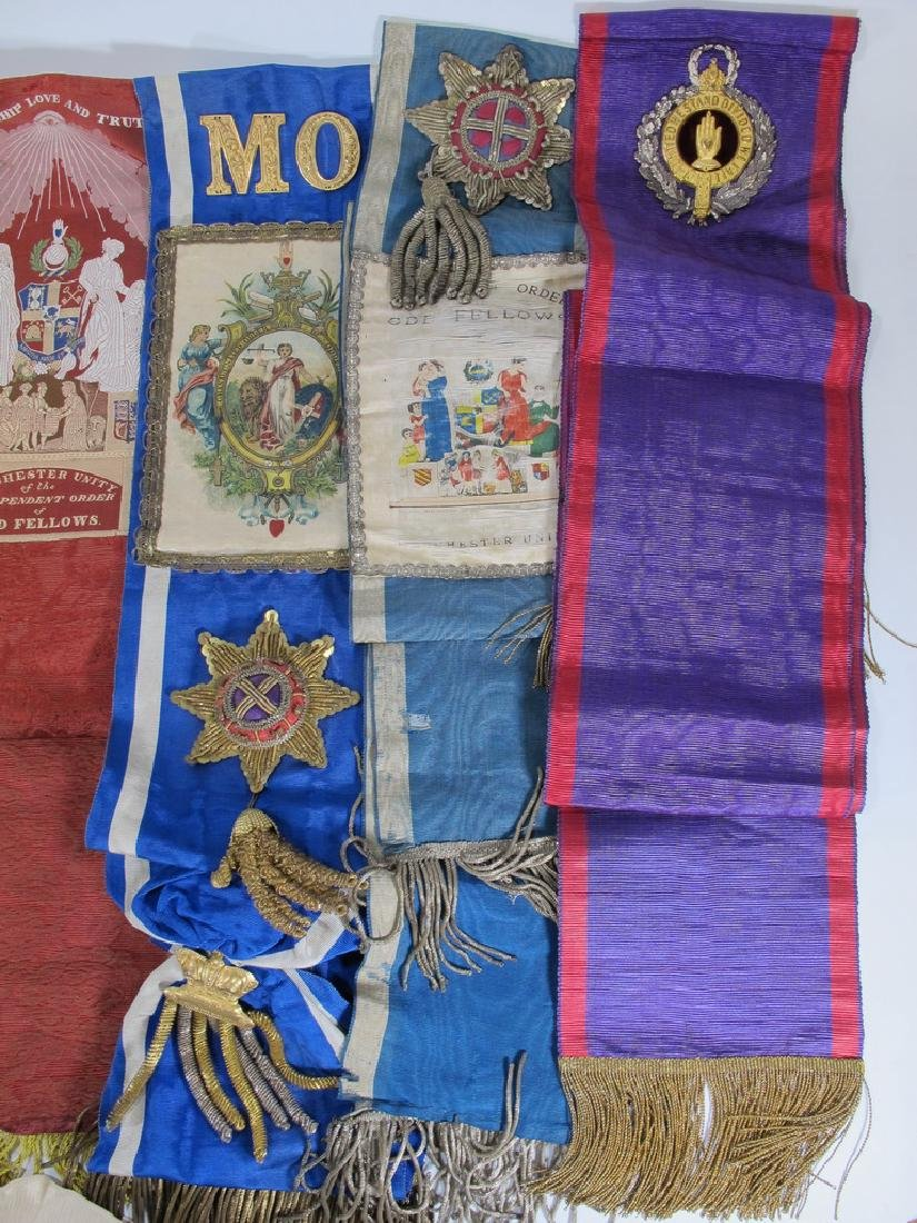 Lot of 10 assorted Masonic Orders sashes - 4