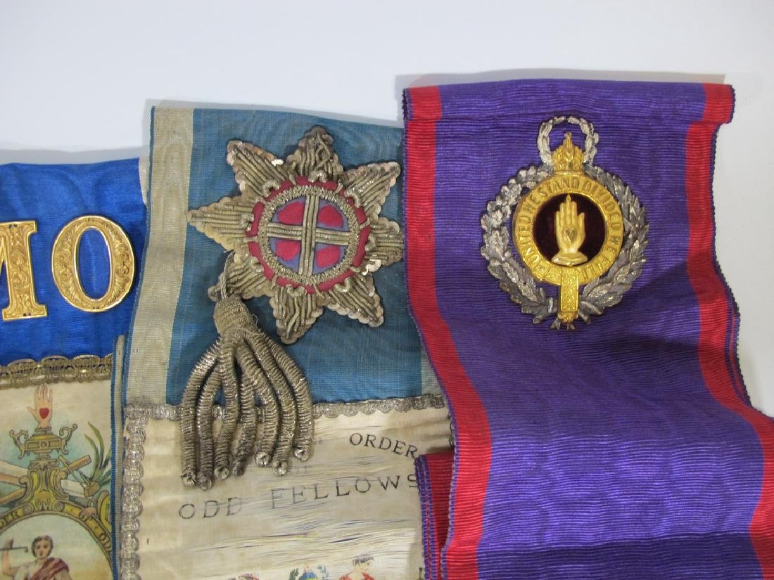 Lot of 10 assorted Masonic Orders sashes - 6