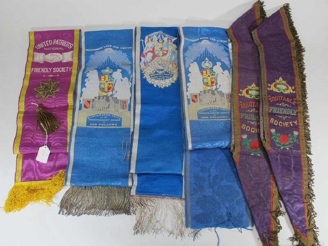 Lot of 6 assorted Masonic Orders sashes