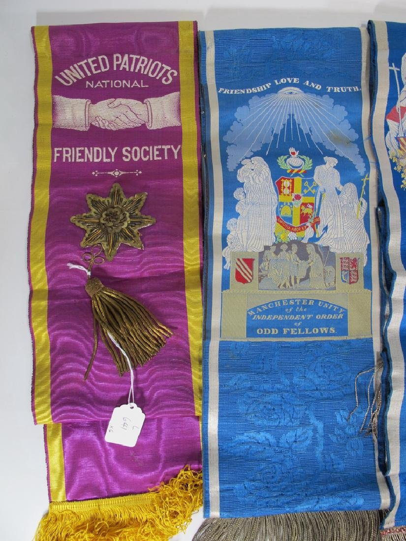 Lot of 6 assorted Masonic Orders sashes - 2