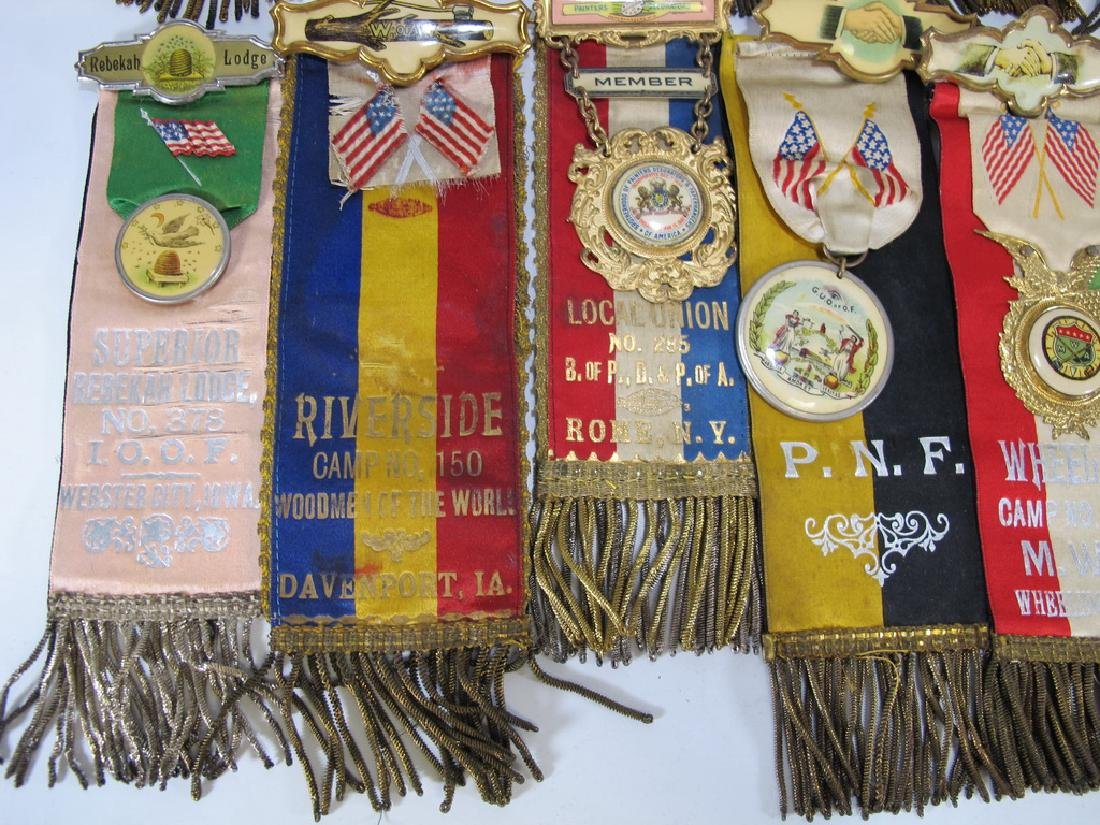 Lot of 15 assorted Masonic Orders ribbons - 4