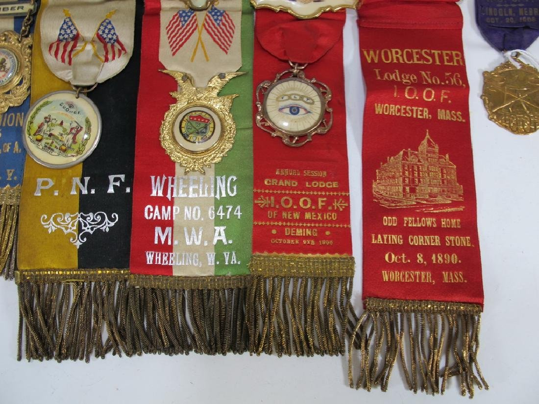 Lot of 15 assorted Masonic Orders ribbons - 5