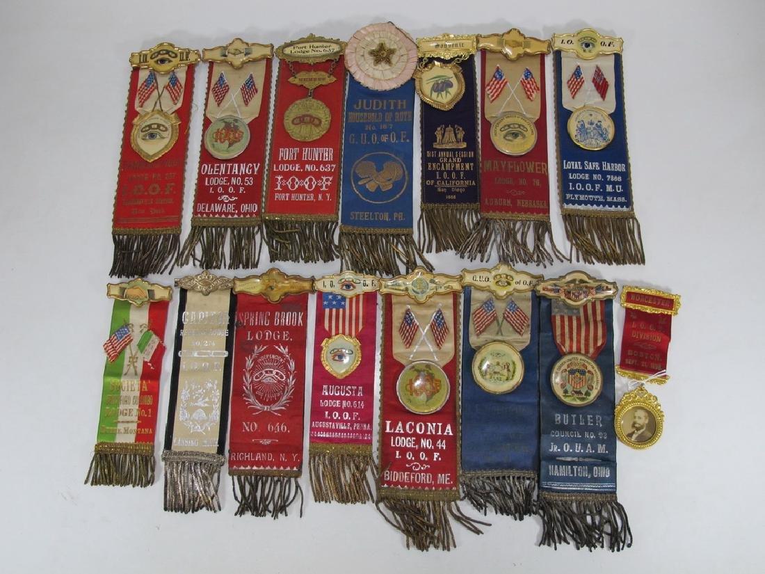 Lot of 15 assorted Masonic Orders ribbons