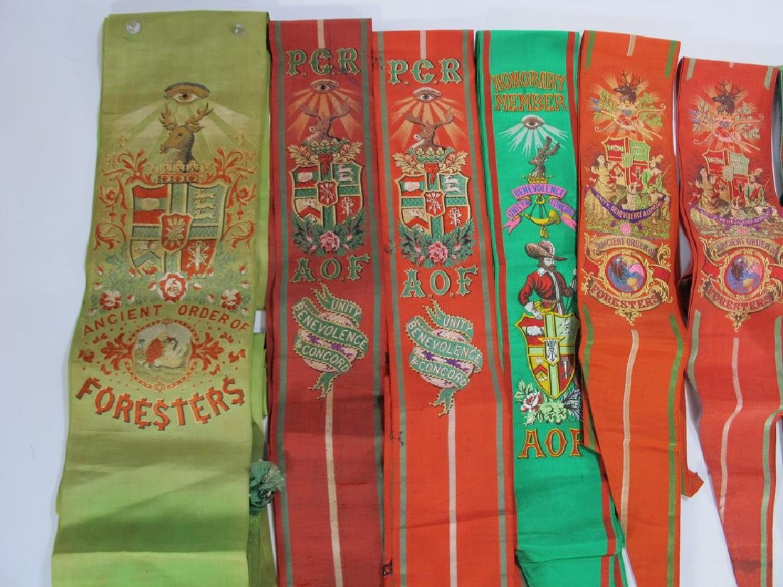 Lot of 12 assorted Masonic Orders sashes - 2