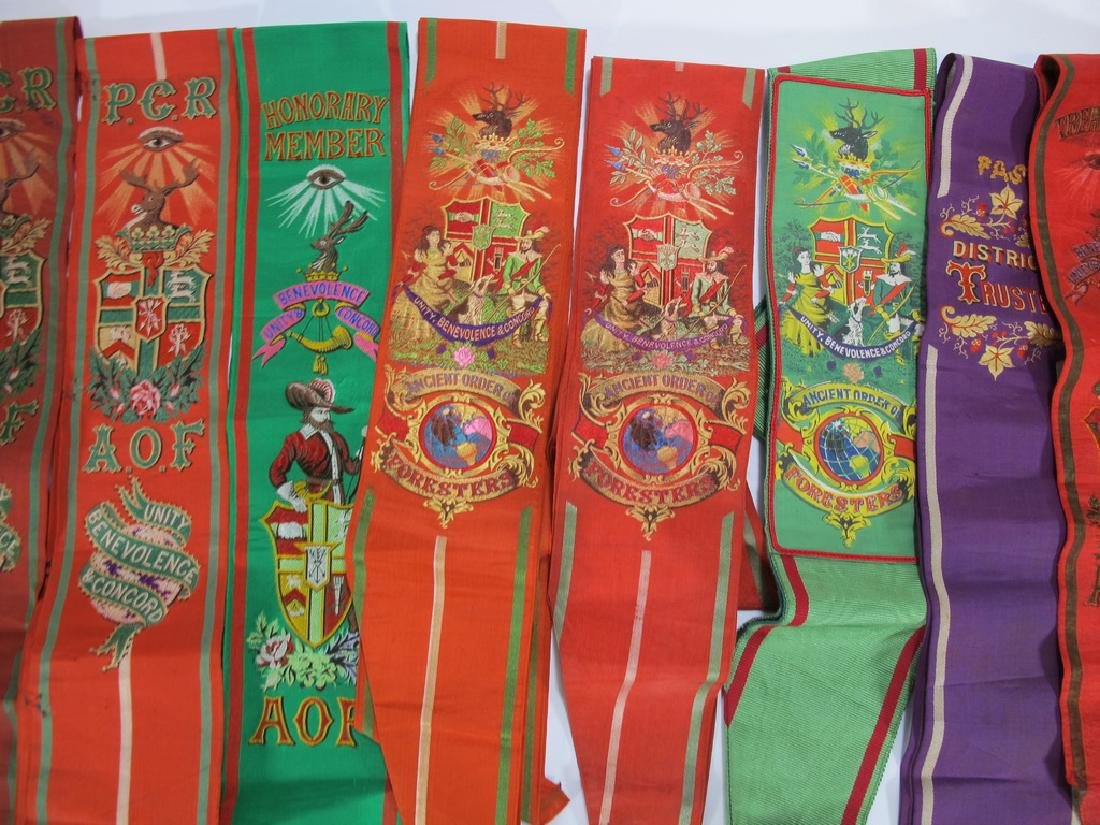 Lot of 12 assorted Masonic Orders sashes - 3