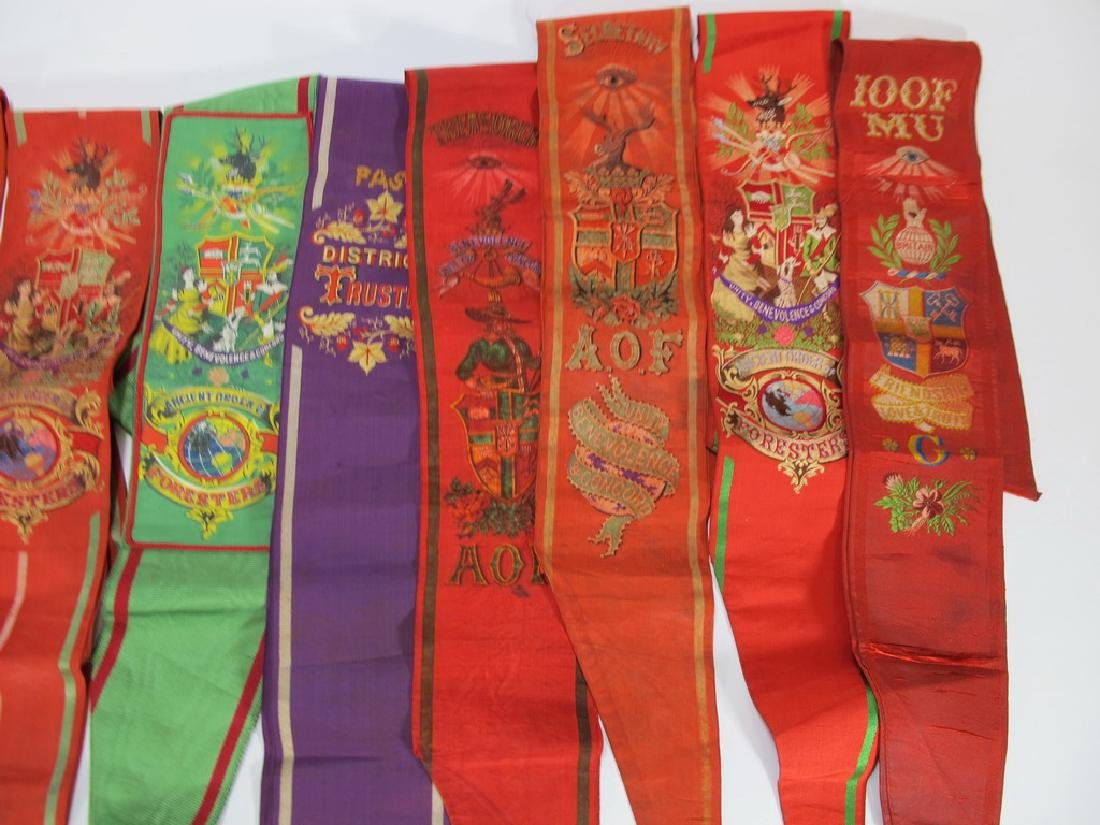 Lot of 12 assorted Masonic Orders sashes - 4