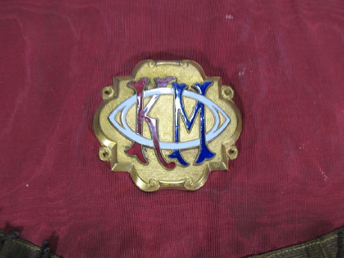 Antique Masonic apron Order of Buffaloes badge - 2