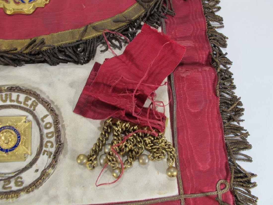 Antique Masonic apron Order of Buffaloes badge - 5