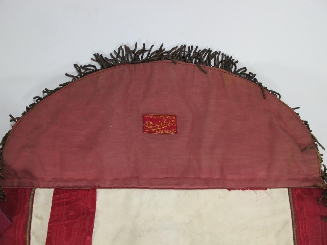 Antique Masonic apron Order of Buffaloes badge - 7