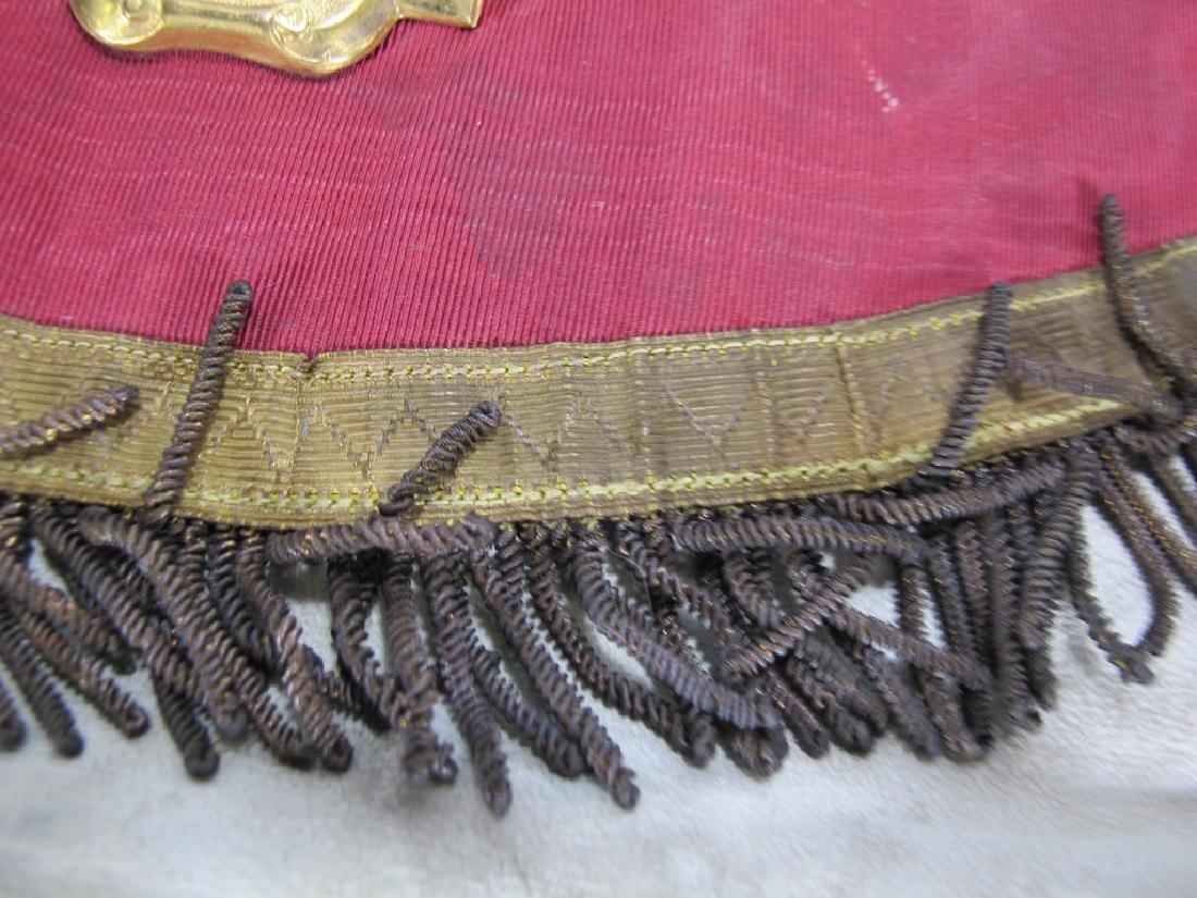 Antique Masonic apron Order of Buffaloes badge - 8