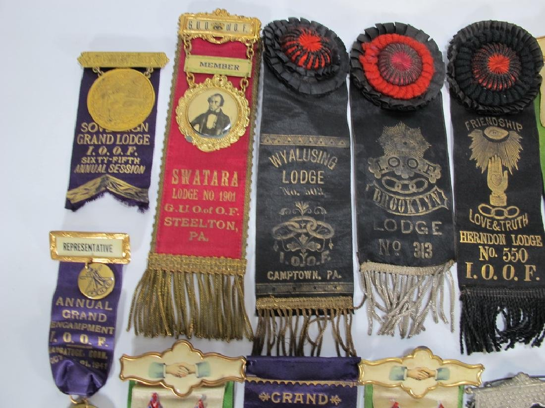 Lot of 15 assorted Masonic Orders ribbons - 2