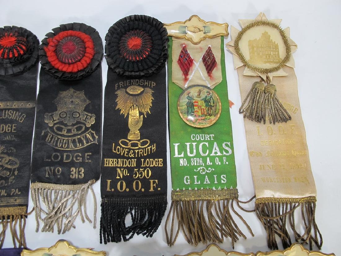 Lot of 15 assorted Masonic Orders ribbons - 3