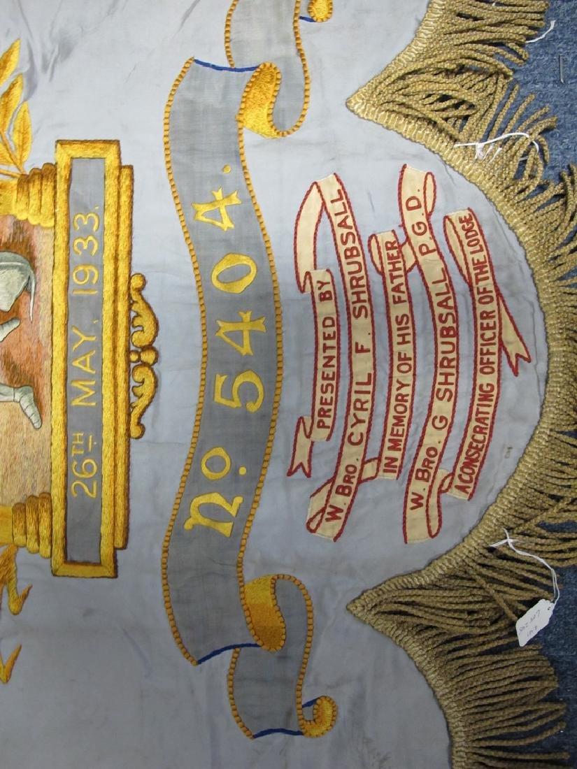 Antique embroidered Masonic flag - 4