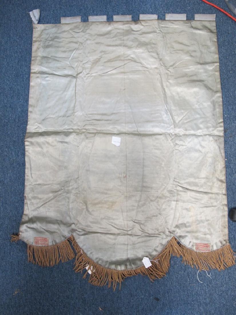Antique embroidered Masonic flag - 5