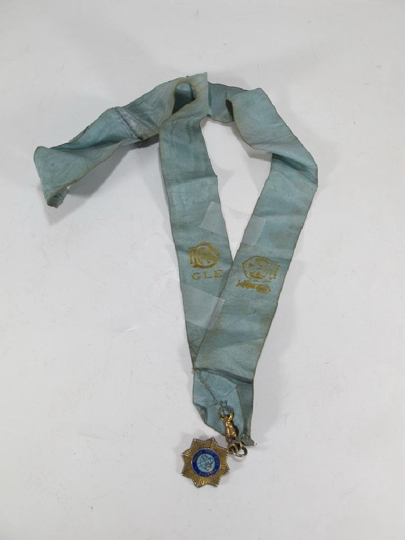 Vintage collar with General Buller Masonic  medal