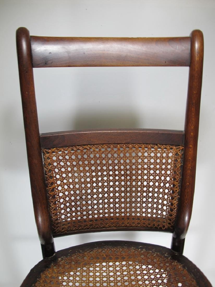19th C. French tone & caned small chair - 2