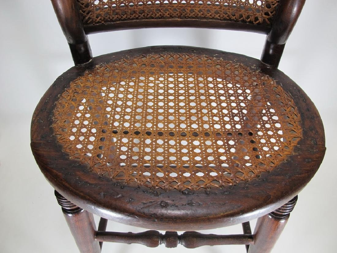 19th C. French tone & caned small chair - 3
