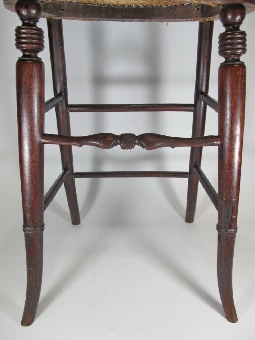 19th C. French tone & caned small chair - 4