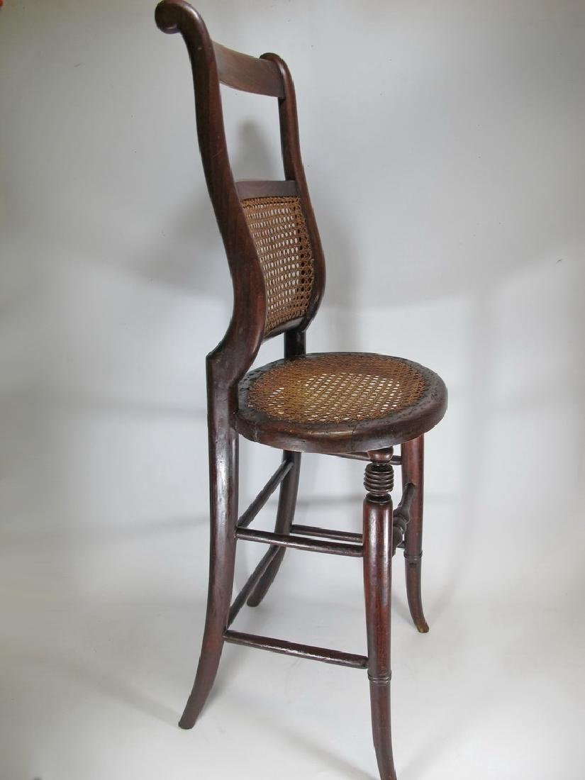 19th C. French tone & caned small chair - 5