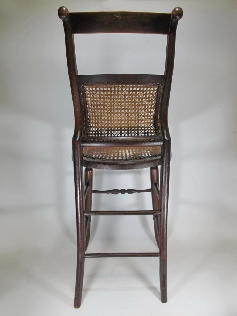 19th C. French tone & caned small chair - 7