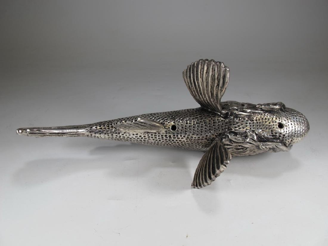 Vintage silverplate fish sculpture - 4
