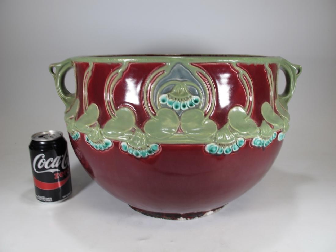 Julius Dressler, Austria, Art Nouveau majolica bowl