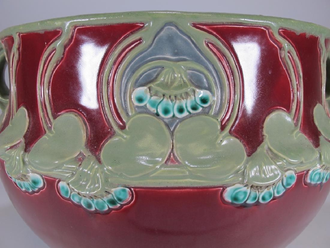 Julius Dressler, Austria, Art Nouveau majolica bowl - 3
