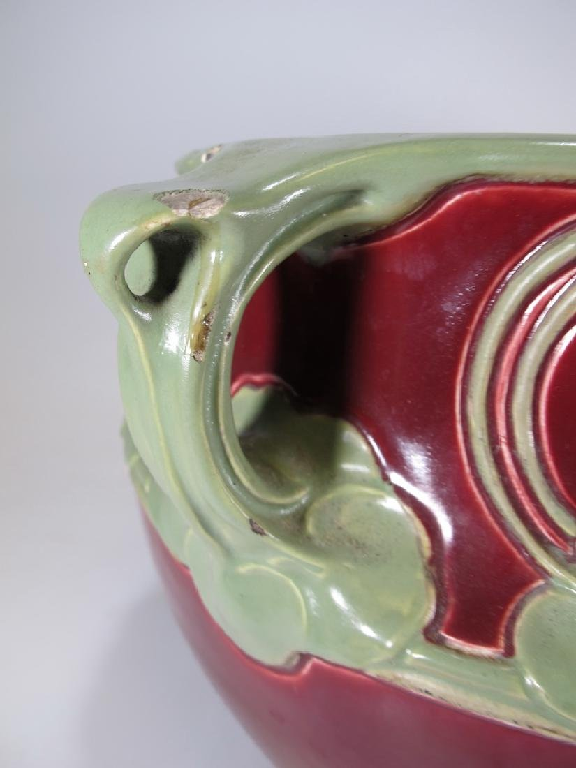 Julius Dressler, Austria, Art Nouveau majolica bowl - 5