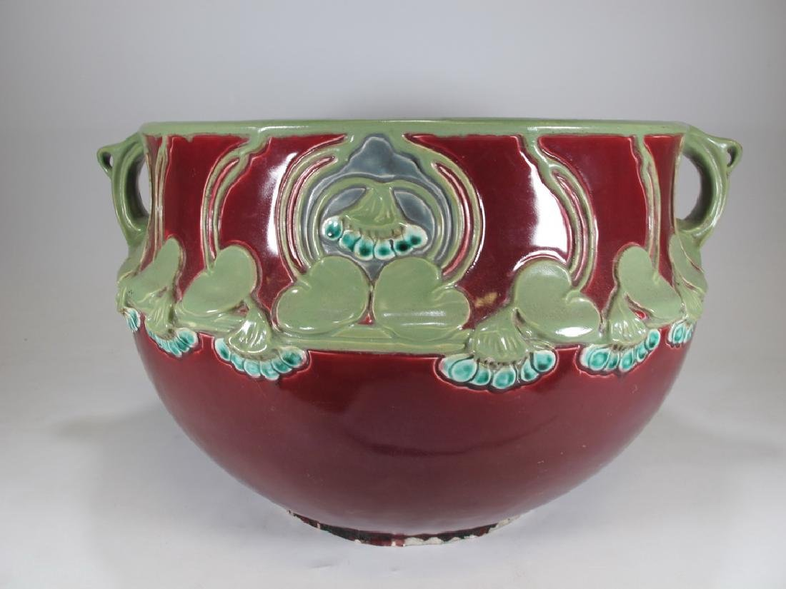 Julius Dressler, Austria, Art Nouveau majolica bowl - 7