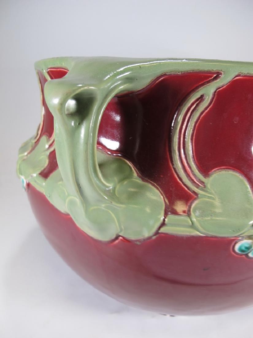 Julius Dressler, Austria, Art Nouveau majolica bowl - 8