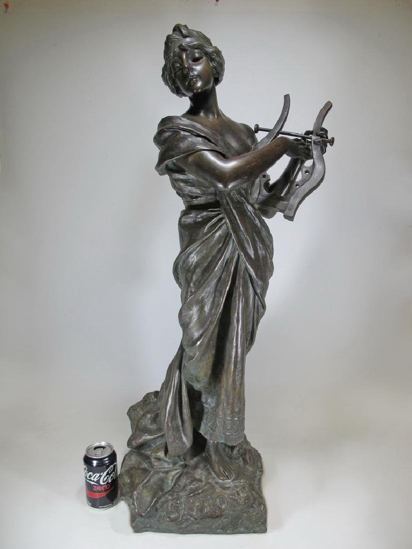 Emmanuel VILLANIS (1858-1914) Sapho bronze statue