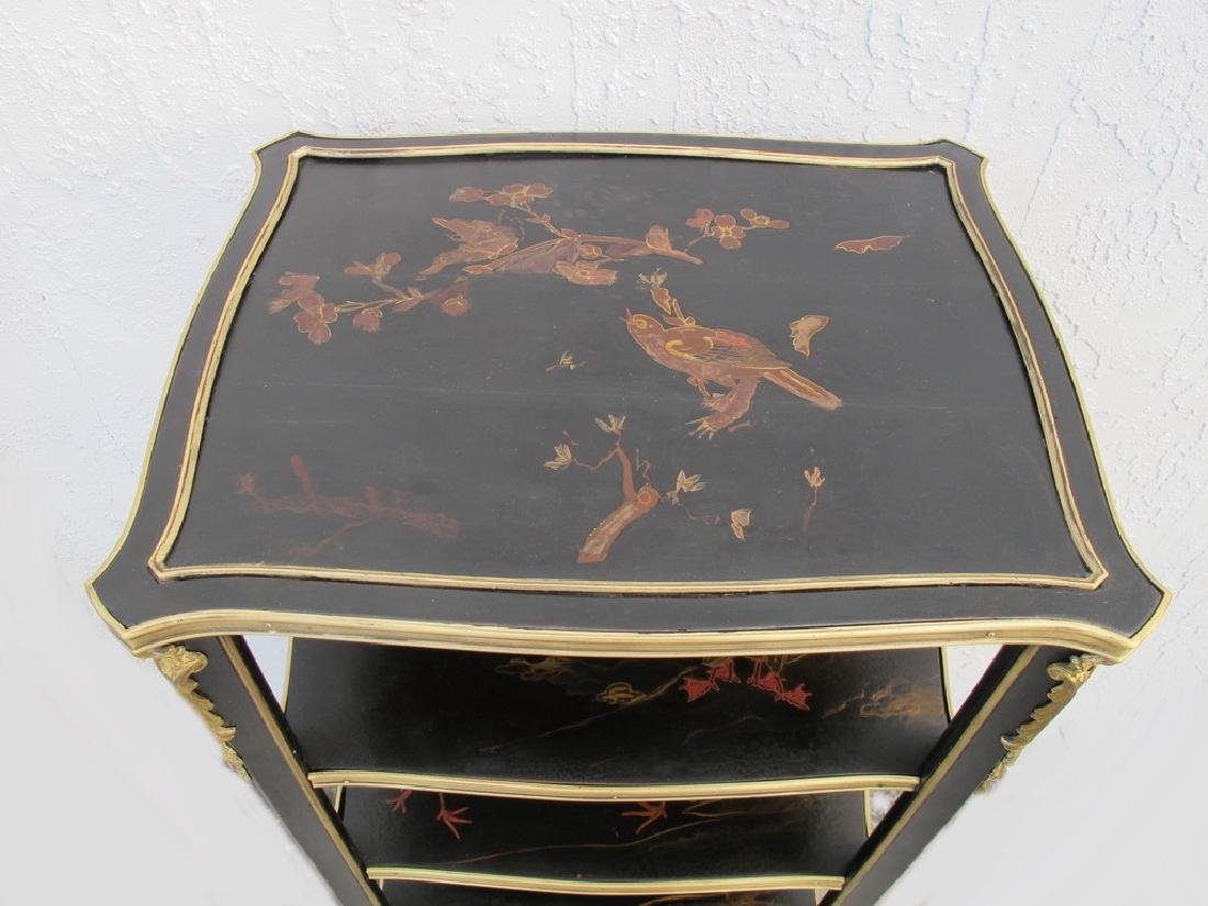 Antique hand painted & bronze Chinoserie shelf - 2