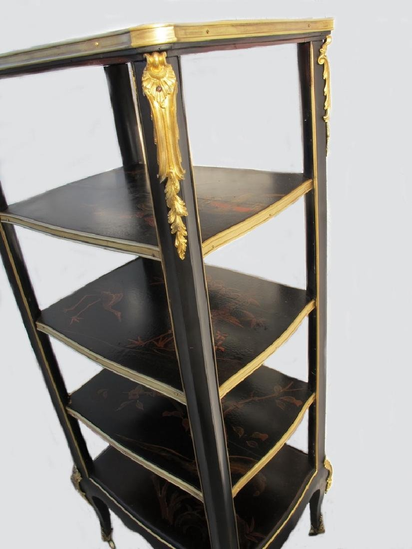 Antique hand painted & bronze Chinoserie shelf - 7