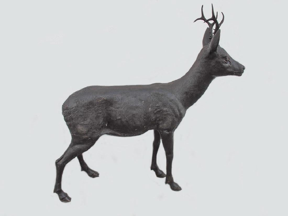 Huge bronze deer sculpture