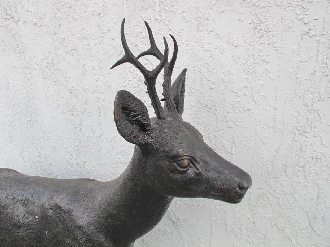 Huge bronze deer sculpture - 2
