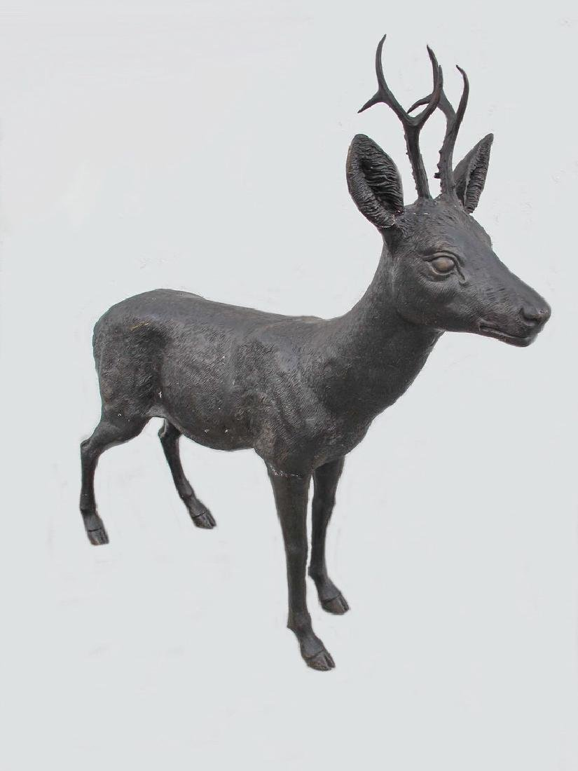 Huge bronze deer sculpture - 6