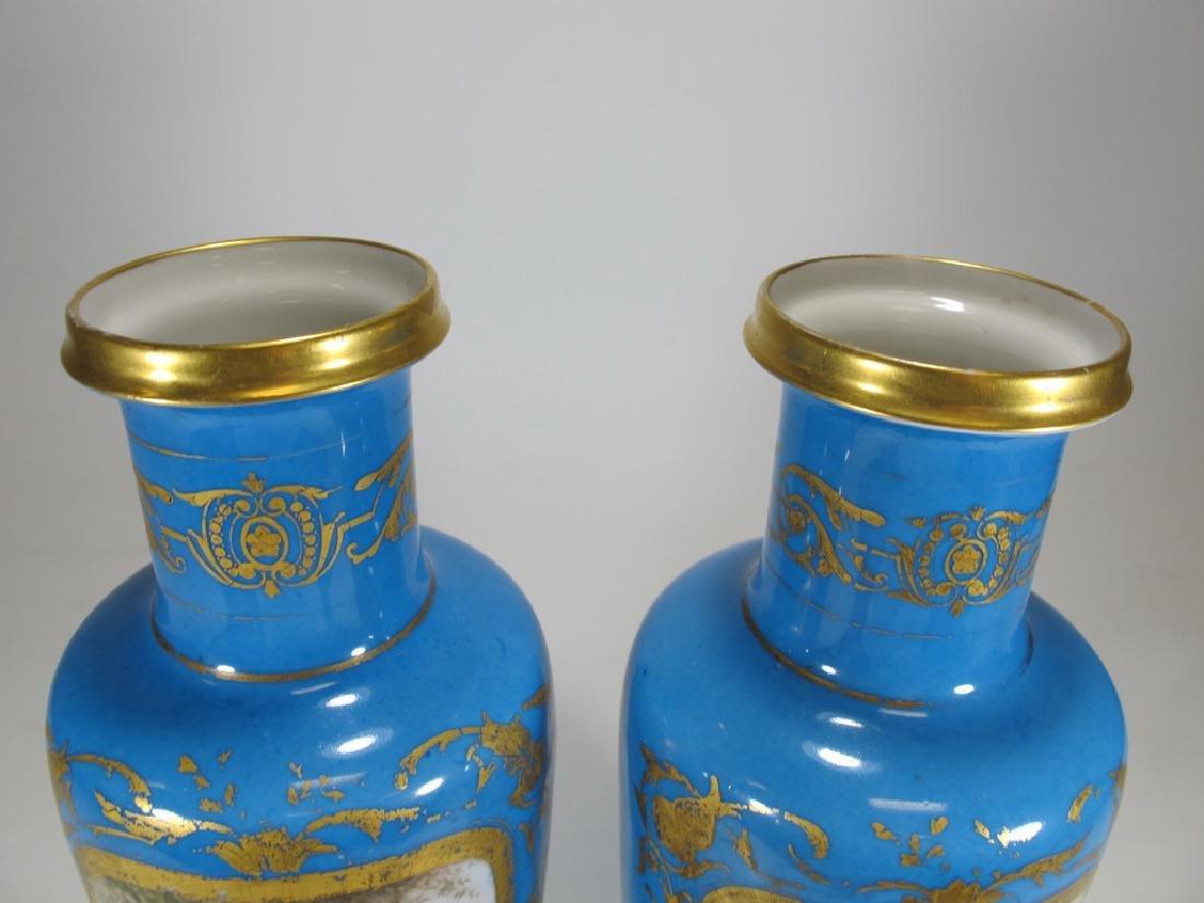 Antique French Sevres pair of porcelain vases - 2