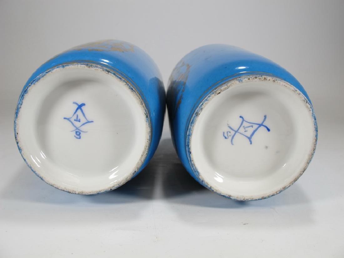 Antique French Sevres pair of porcelain vases - 6