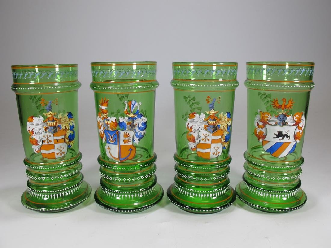 Probably Moser set of 4 enamel glasses