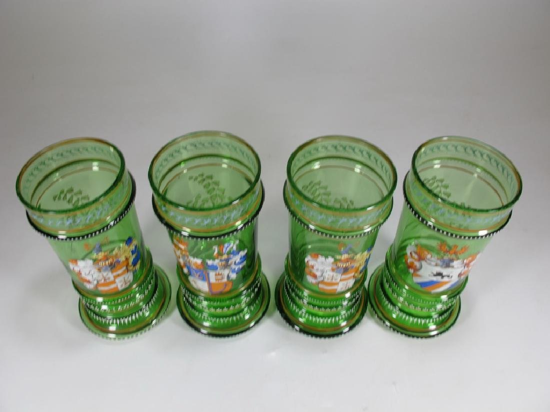 Probably Moser set of 4 enamel glasses - 2