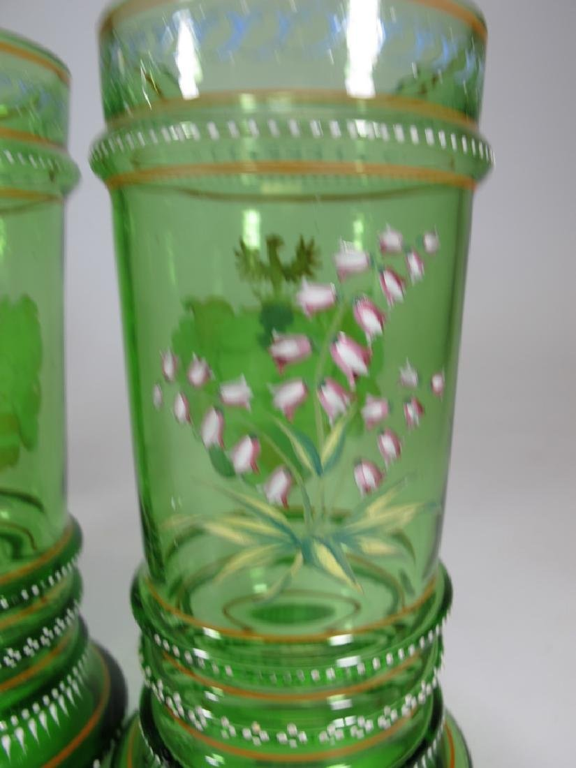 Probably Moser set of 4 enamel glasses - 8
