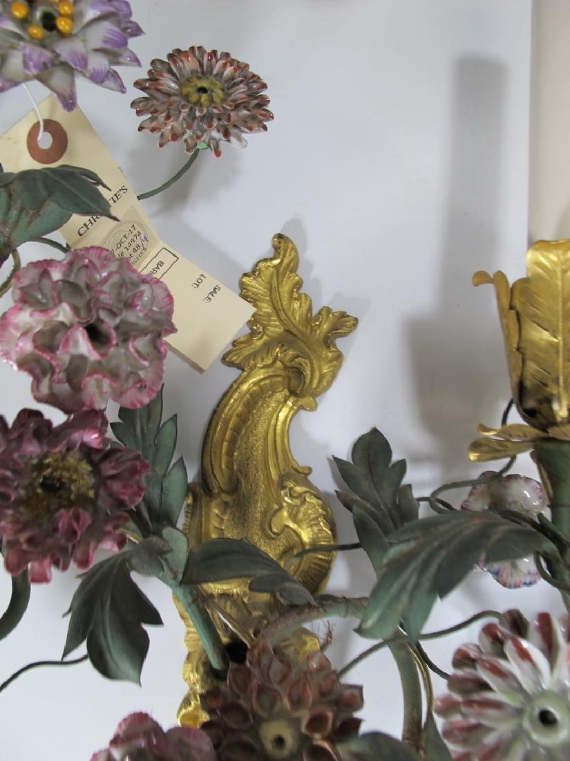 Gorgeous French set of 4 antique bronze & porcelain - 6