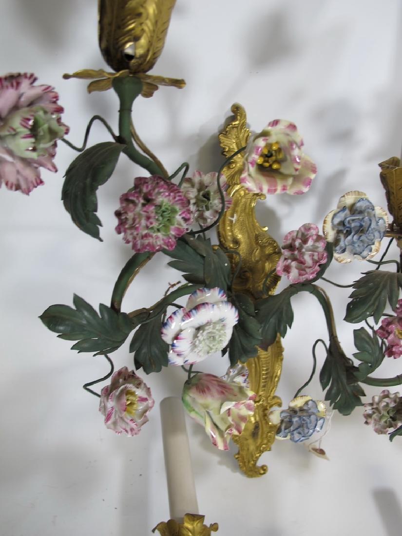 Gorgeous French set of 4 antique bronze & porcelain - 7