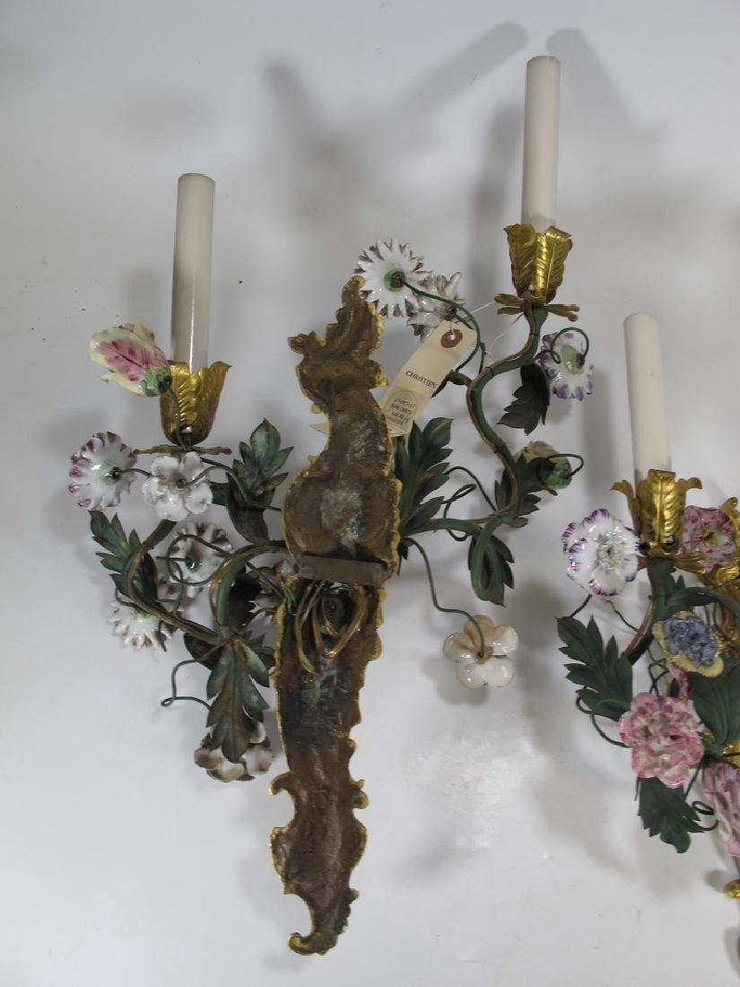 Gorgeous French set of 4 antique bronze & porcelain - 8