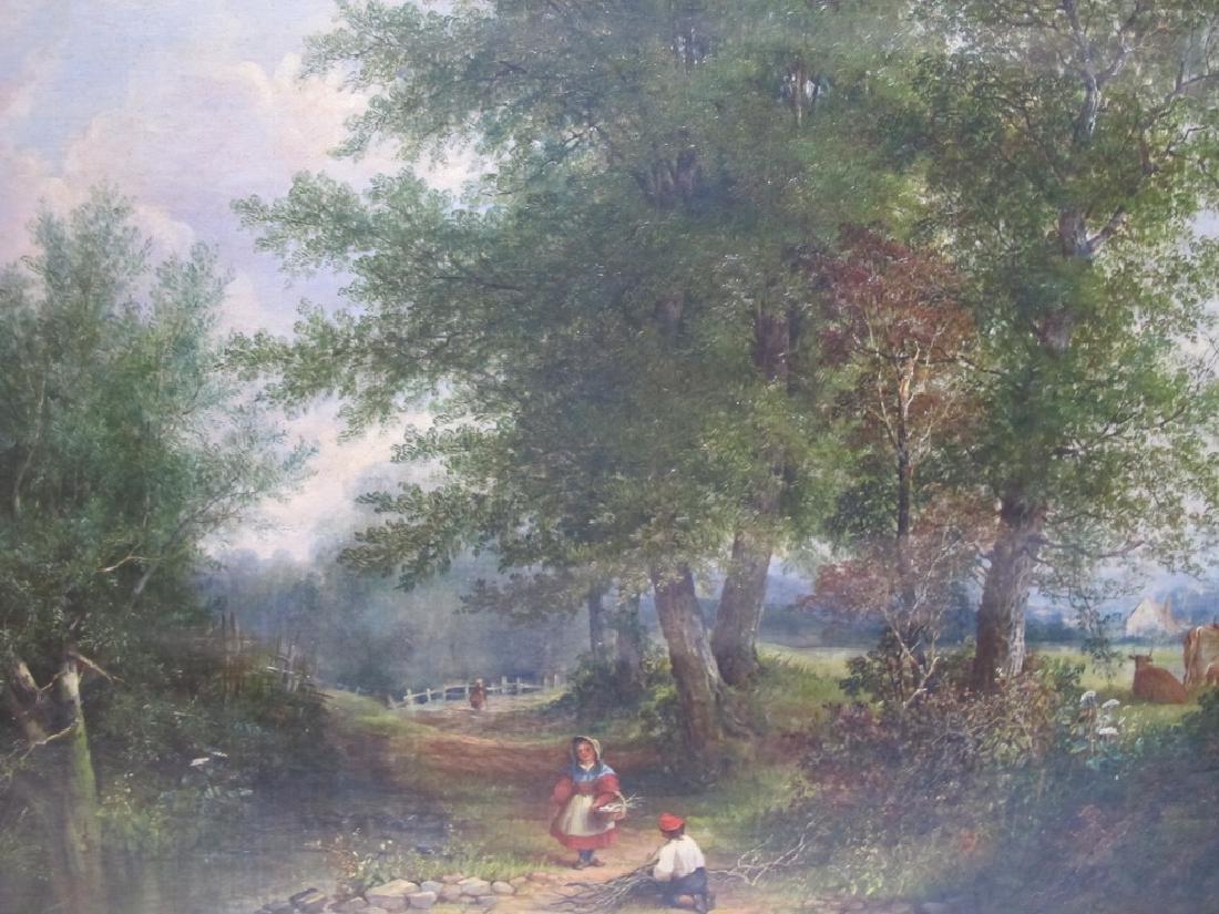 Antique European oil on canvas lanscape painting - 2