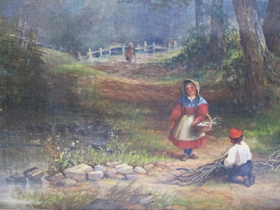 Antique European oil on canvas lanscape painting - 3