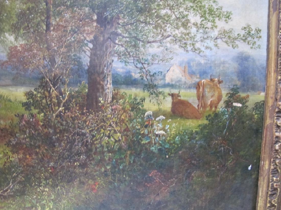 Antique European oil on canvas lanscape painting - 4